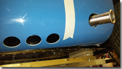 Hole cut for the exhaust exit point - also added some cooling holes - Click for larger image