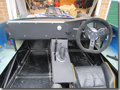 Dashboard fitted with the top arch in place and under dash protection also in place - Click for larger image