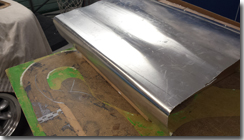 Aluminium formed to make mold for under dash panels - Click for larger image
