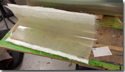 Fibreglass panel formed from the mold - Click for larger image