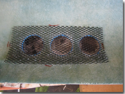 Mesh panel bonded using PU sealant - Click for larger image