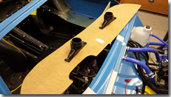 Dashboard fabrication in progress - Click for larger image